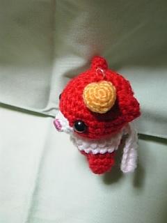 赤クマ(頭ハート