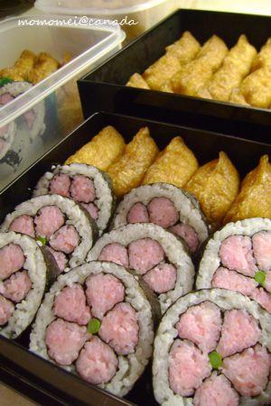 いなり寿司&花の巻き寿司