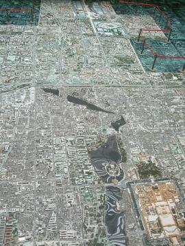 でけぇこれが北京市750分の1模型だ