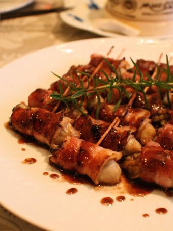 牡蠣ベーコン