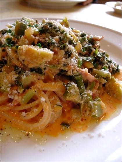 クチーナ 自家製野菜のトマトクリームパスタ