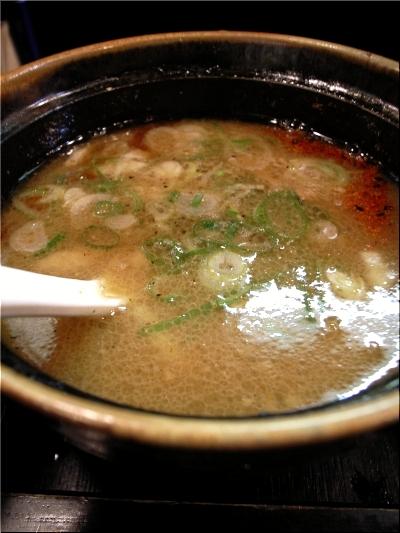 晴れる屋 つけ麺 スープ