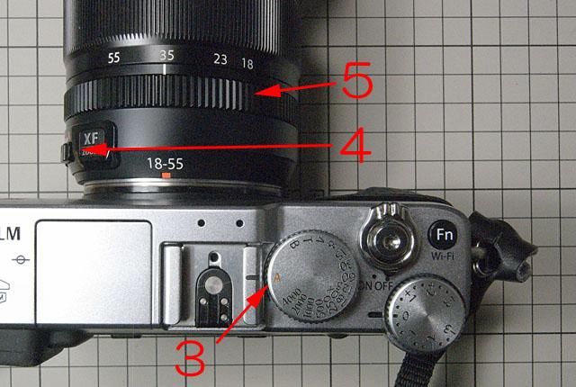 4124 X-E2の設定 640×430
