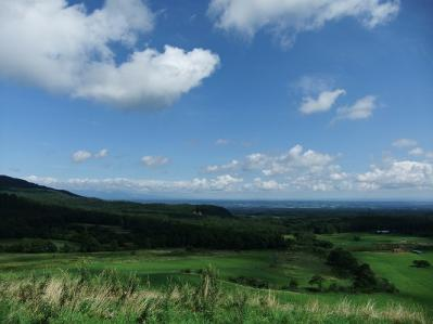 丘より十勝平野を見る