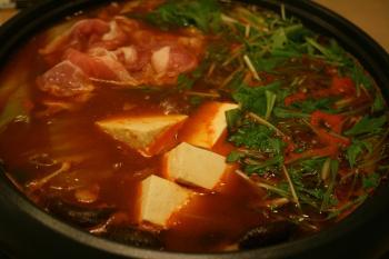 キムチ鍋で元気もりもり