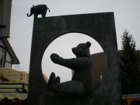 象の像とくま