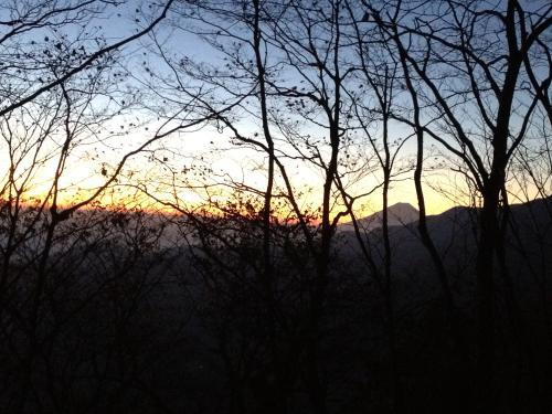 朝焼けと富士山(2)