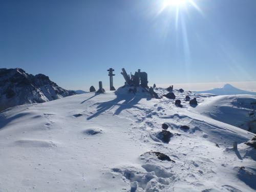 阿弥陀岳山頂。赤岳富士山」(2)