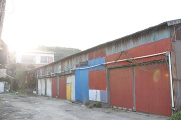 漁港の倉庫