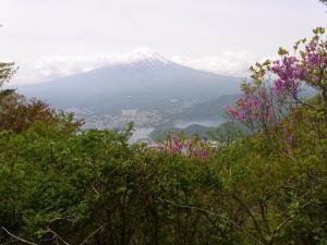 破風山と黒岳の間で見た富士山 クリックで拡大