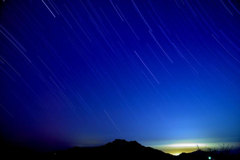 星降る石鎚  (愛媛県 西条市 石鎚山)