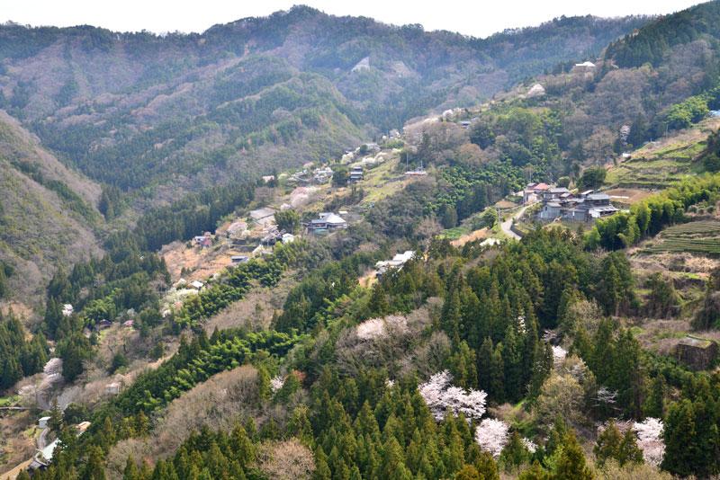 山里風景 (徳島県 美馬郡 つるぎ町)