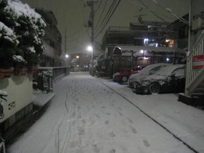 h23バレンタインの雪