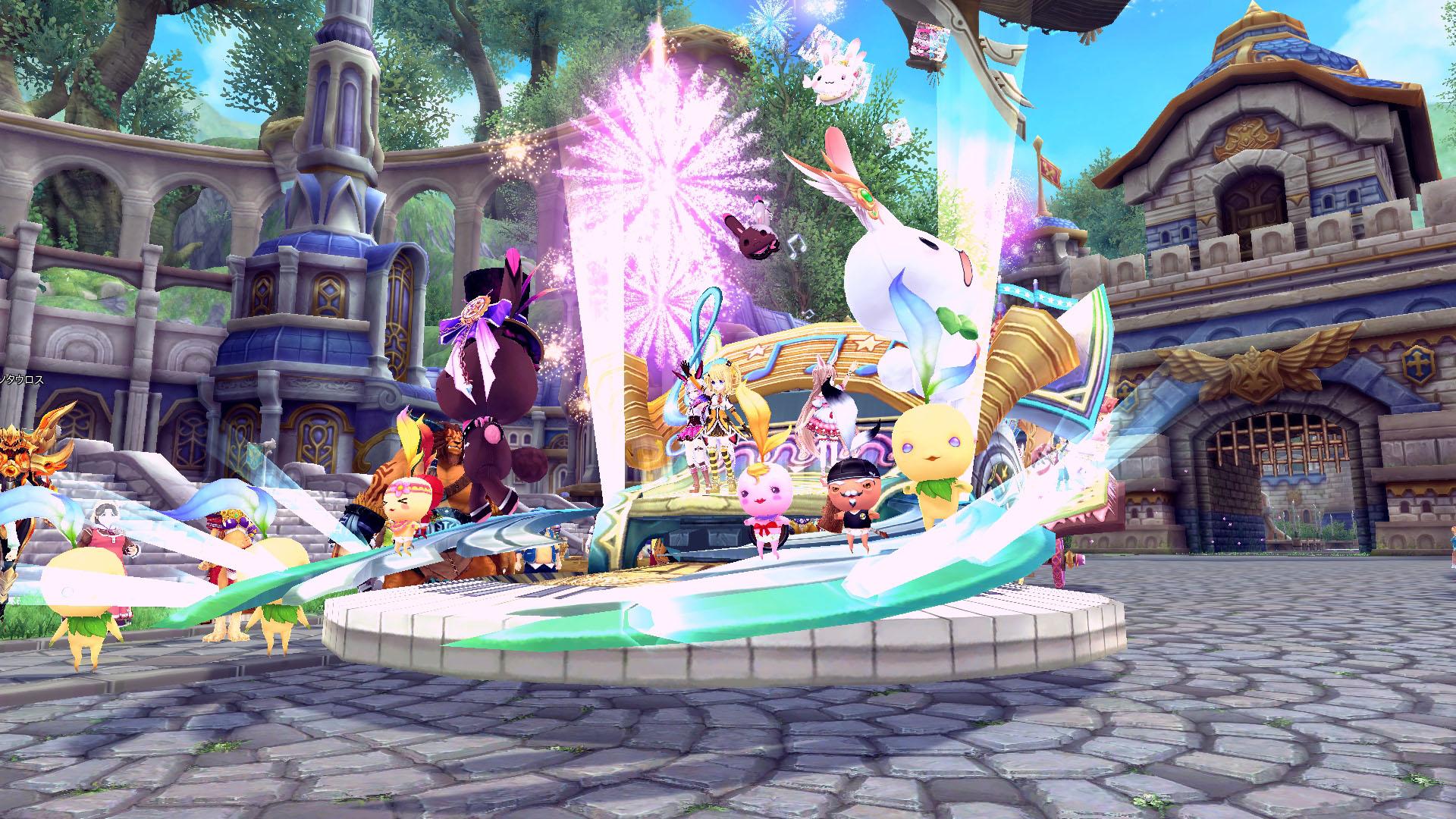 『 幻想神域 -Innocent World- 』人気幻神やかわいいモンスターたちが聖都ナディアを練り歩く!