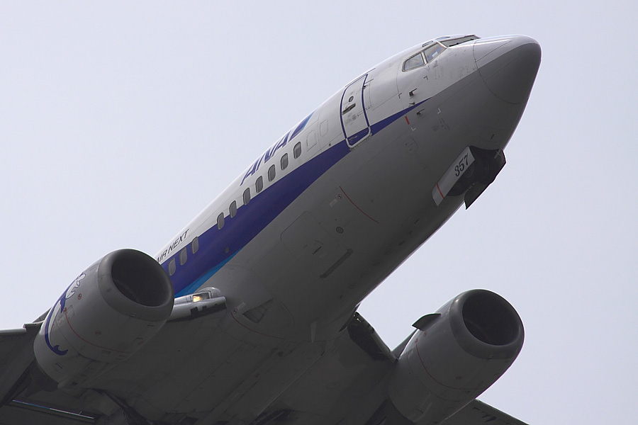 AKX B737-5L9 ANA513@下河原緑地展望デッキ(by EOS50D with SIGMA APO 300mm F2.8 EX DG/HSM + APO TC2x EX DG)