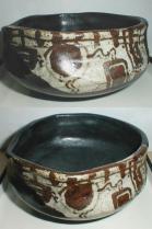 黒織部沓茶碗