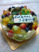 アーティストママのつれづれ日記-誕生日ケーキ