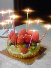 アーティストママのつれづれ日記-誕生日ケーキ2