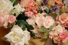 アーティストママのつれづれ日記-ウェルカムボード用造花