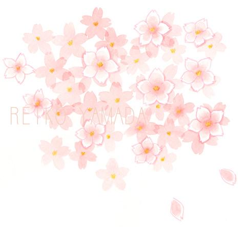 アーティストママのつれづれ日記-お花見イラスト
