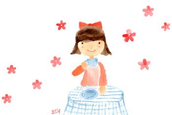 アーティストママのつれづれ日記-画仙市水彩画イラスト