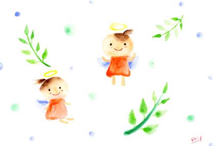 アーティストママのつれづれ日記-天使のイラスト
