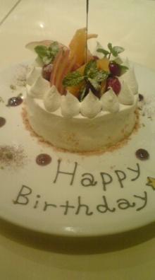 アーティストママのつれづれ日記-お誕生日ケーキ