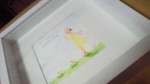 アーティストママのつれづれ日記-水彩額優しいイラスト