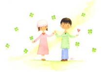 アーティストママのつれづれ日記-ホームページヘッダーイラスト
