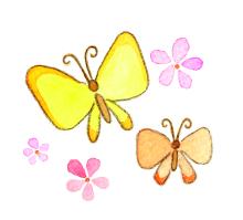 アーティストママのつれづれ日記-春イラスト蝶