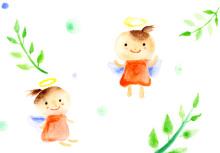アーティストママのつれづれ日記-天使イラスト