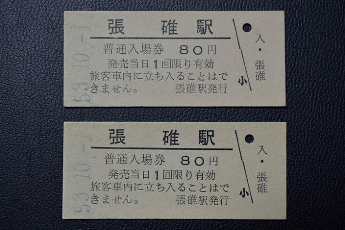 張碓駅80円入場券