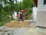 埋設溝掘り1