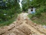 埋設溝掘り7