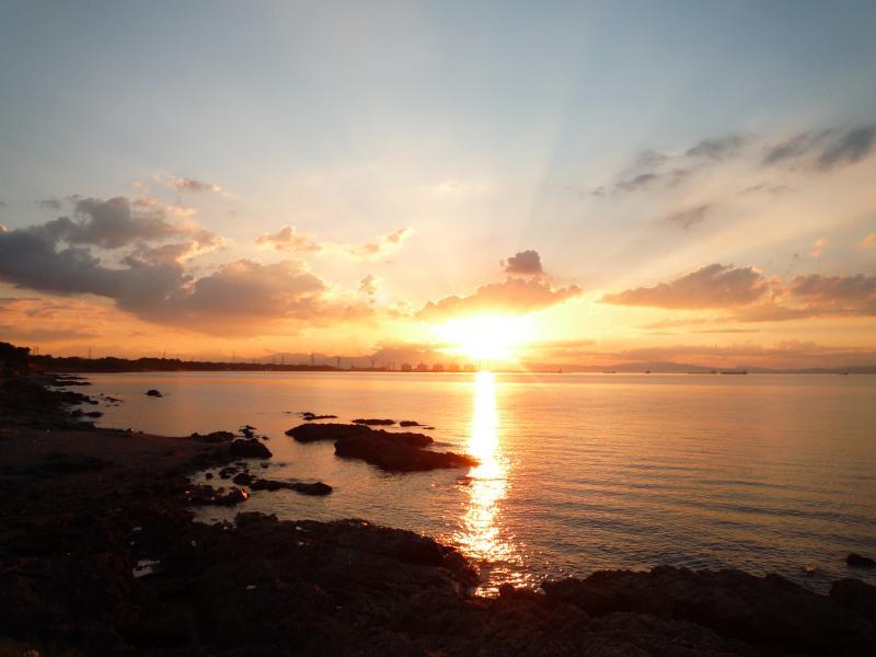 別府湾の夕暮れ