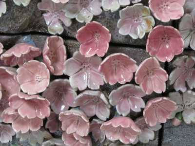 陶板絵 桜花弁