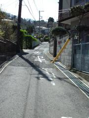 塚山公園への急坂