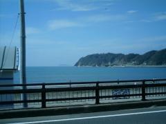 渚橋手前から 富士山と江の島