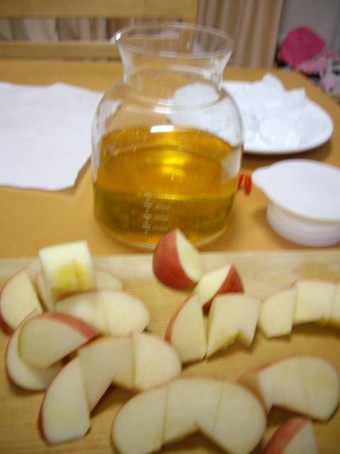 リンゴ酢にドボン