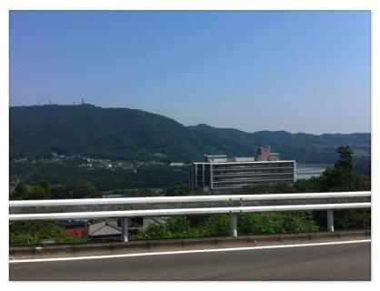 津久井湖がみえる