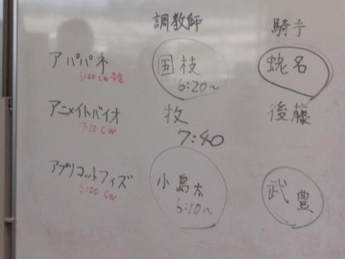 秋華賞共同記者会見