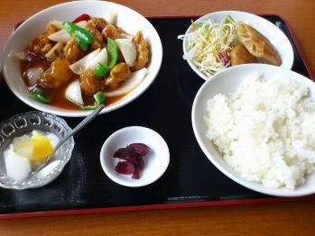 D・酢豚ランチ