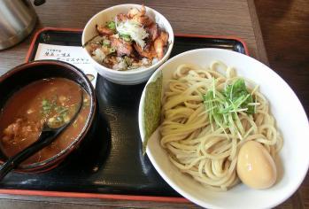 昼限定(つけ麺・中+鶏てりやき飯)