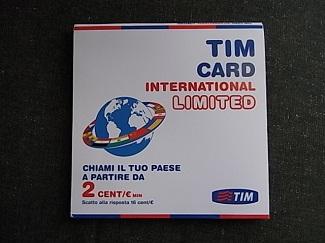 TIMのSIMカード外装