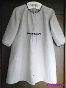 麻のコートドレス