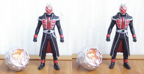 ウィザードリングとソフビヒーロー:(3D・平行法対応)