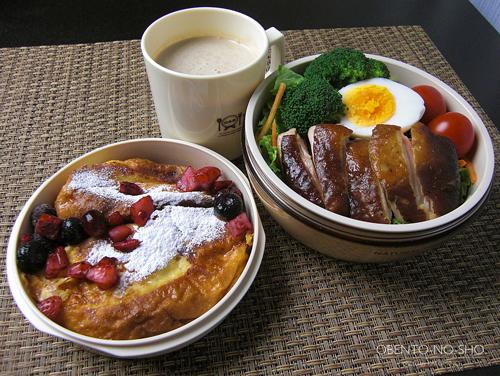 紅茶鶏のサラダ弁当01
