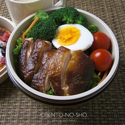 紅茶鶏のサラダ弁当02