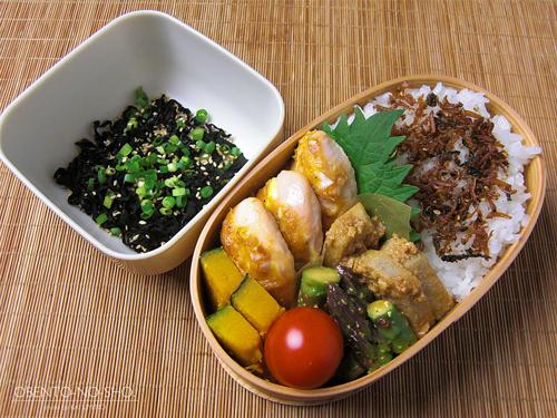 ササミの味噌マヨ焼き弁当01