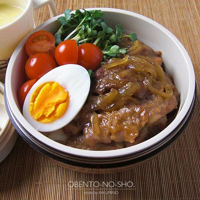 生姜焼きうどん&白菜のすり流し弁当02